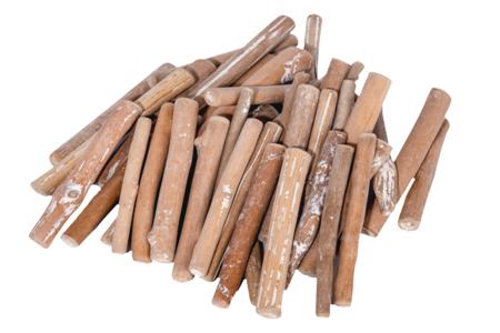 Branches en bois flotté 8 cm - 250 grammes - Décorations en Bois – 10doigts.fr