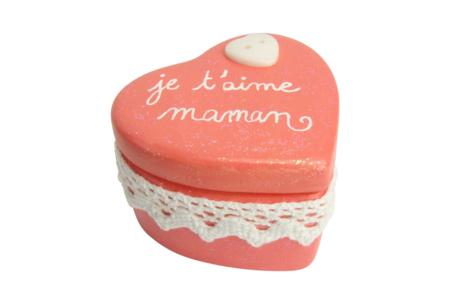Boîte coeur en terre cuite blanche - Supports en Céramique et Terre Cuite – 10doigts.fr