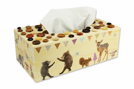 Boîte à mouchoirs rectangulaire en bois - Boîte à mouchoirs – 10doigts.fr