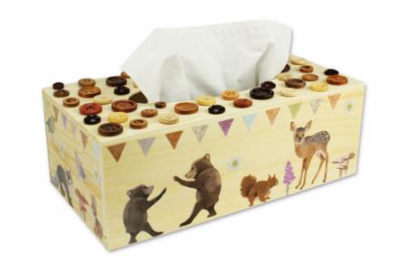 Boîte à mouchoirs animaux de la forêt - Décoration d'objets – 10doigts.fr