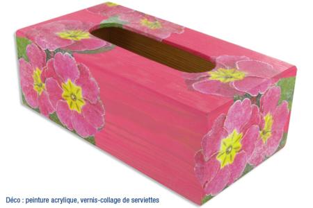 Boîte à mouchoirs rectangulaire, en bois - Boîtes, coffrets, plateaux – 10doigts.fr
