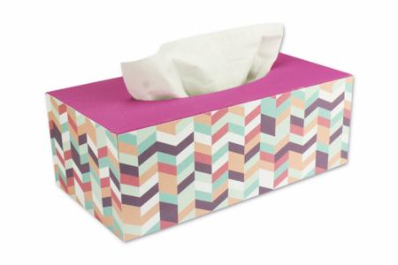 Boîte à mouchoirs aux motifs géométriques - Décoration d'objets – 10doigts.fr