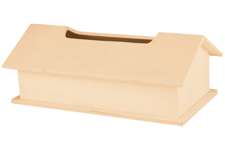 Boîte à mouchoirs maison en bois - Objets pour le bureau – 10doigts.fr