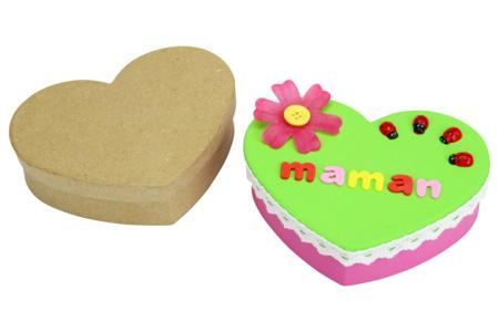 boite bijoux cadeau fête des mères enfants coeur - Tête à Modeler