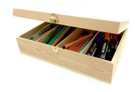 Boîte rectangle 4 casiers - Boîtes et coffrets – 10doigts.fr