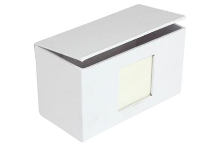 Boite cadre photo en carton blanc 12 cm - Boîtes en carton – 10doigts.fr