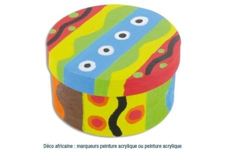 Boîte en copeaux de bois Déco  - Boîtes, coffrets, plateaux – 10doigts.fr