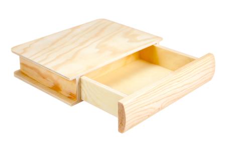 Boîte tiroir livre en bois - Boîtes et coffrets – 10doigts.fr