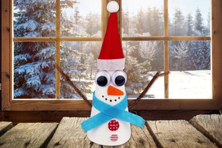 Bonhomme de neige conique - Noël – 10doigts.fr