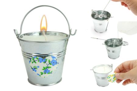 Kit Atelier création de bougies - Pour 8 bougies - Cires, gel  et bougies – 10doigts.fr