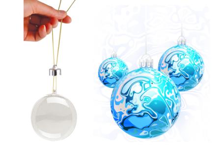 Boule en plastique transparent 3 en 1 - Plastique Transparent – 10doigts.fr