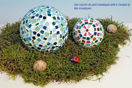 Boule polystyrène déco mosaïques - Mosaïques – 10doigts.fr