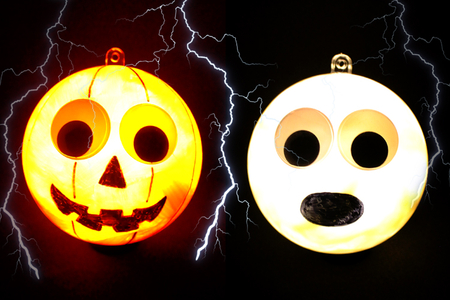 boules halloween lumineuses - Tête à Modeler