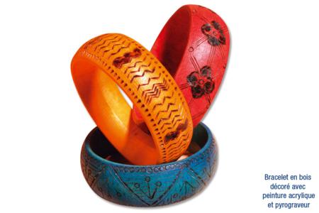 Bracelet pyrogravé - Bijoux – 10doigts.fr