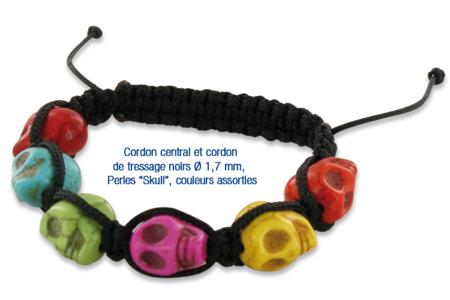 """Perles """"tête de mort"""" en magnésite - 8 perles - Pierres semi précieuses et minérales – 10doigts.fr"""