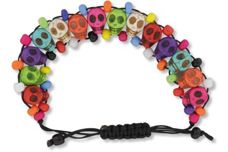 "Shamballa avec des perles Têtes de mort ""Skull"" - Bracelets divers – 10doigts.fr"