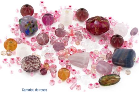 Bracelets camaïeu de perles roses fantaisies en verre - Bijoux – 10doigts.fr