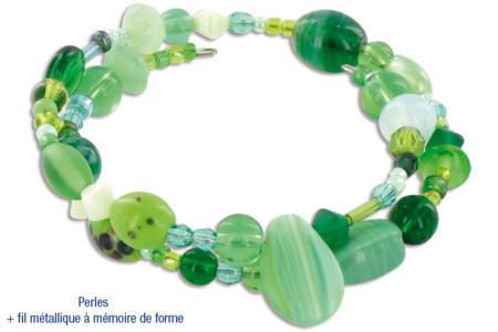 Bracelets camaïeu de perles vertes fantaisies en verre - Bijoux – 10doigts.fr