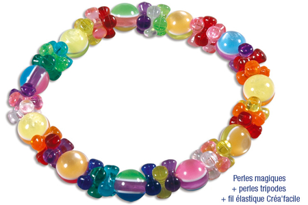 Bracelets de perles magiques en verre - Tutos Fête des Mères – 10doigts.fr