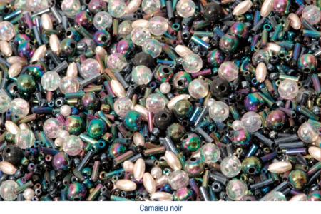 Bracelets en perles de rocaille, camaïeu de noirs - Bijoux – 10doigts.fr
