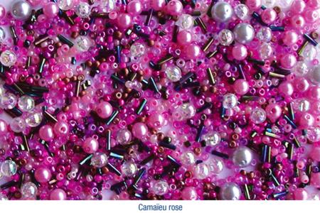 Bracelets en perles de rocaille, camaïeu de roses - Bijoux – 10doigts.fr
