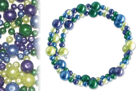 Bracelets en perles nacrées, camaïeu rose à violine ou azur à olive - Tutos Fête des Mères – 10doigts.fr