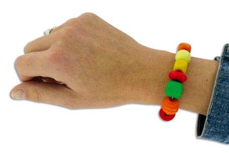 Bracelets ou collier en grosses perles en bois - Bijoux – 10doigts.fr