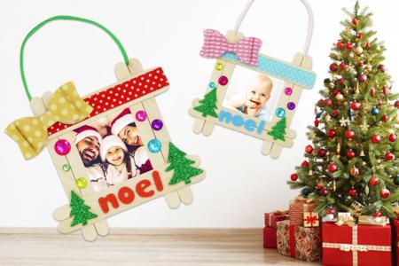 Cadre de Noël à accrocher dans le sapin - Noël – 10doigts.fr