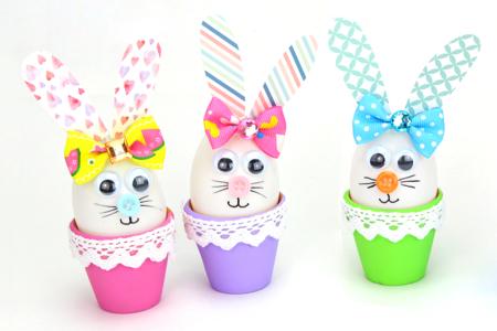 Lapin de Pâques dans son pot en terre cuite - Tutos Pâques – 10doigts.fr