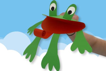 Marionnette grenouille en papier - Animaux – 10doigts.fr