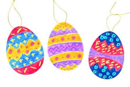 Œufs de Pâques avec des feutres magiques - Activités enfantines - 10doigts.fr