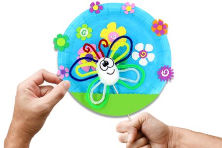 Marionnette papillon - Activités enfantines – 10doigts.fr
