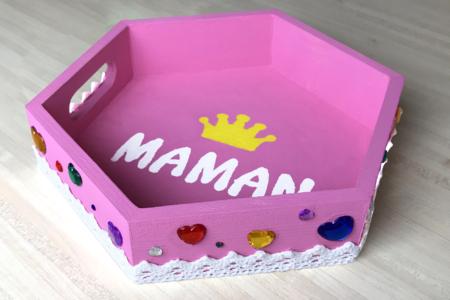 Mini plateau fête des mères - Activités enfantines – 10doigts.fr