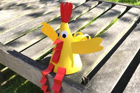 Poule de Pâques en papier - Tutos Pâques – 10doigts.fr