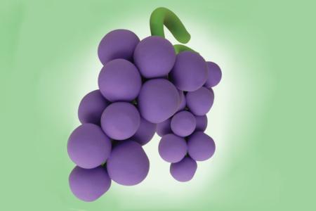 Grappe de raisins en pâte à modeler - Activités enfantines - 10doigts.fr
