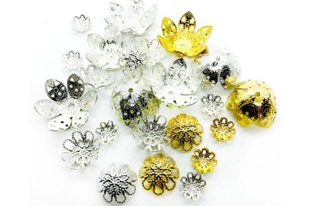 Filigranes pour perles or et argent - 24 pièces - Perles intercalaires & charm's – 10doigts.fr