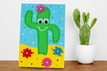 Cactus avec sequins à piquer - Sequins – 10doigts.fr