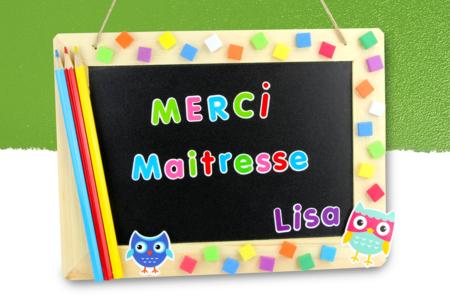 "Ardoise ""Merci maitresse"" #2 - Activités enfantines - 10doigts.fr"