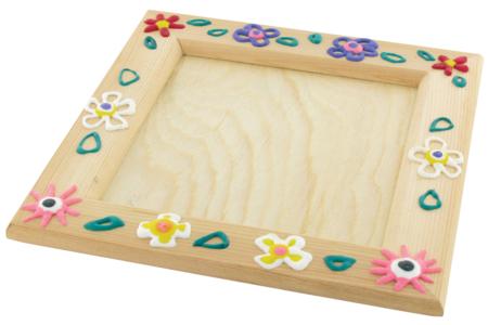 Cadre photo ou vide-poche en bois - Carré ou rectangle - Cadres photos en bois – 10doigts.fr