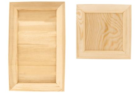Cadre photo ou vide-poche en bois - Carré ou rectangle - Cadres photos – 10doigts.fr