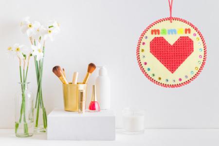 Coeurs à broder - Kit pour 6 réalisations - Supports à broder – 10doigts.fr