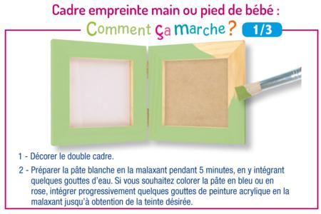 Cadre empreinte main ou pied de bébé - Déco de la maison – 10doigts.fr
