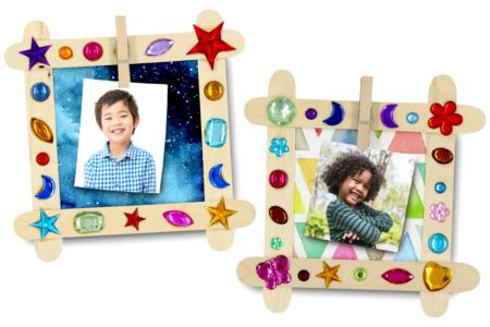 Cadre / mémo magnétique décoré avec des strass - Pense-bêtes, marque-places – 10doigts.fr