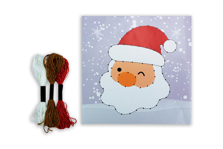 Coffret String art Père Noël - Coffret String Art – 10doigts.fr