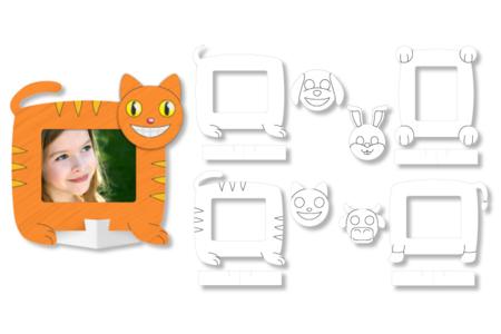 Cadres photo animaux à colorier - Set de 16 - Support blanc – 10doigts.fr