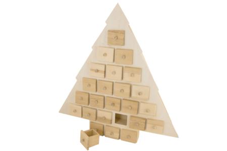 Sapin calendrier de l'Avent - Décorations de Noël en bois – 10doigts.fr
