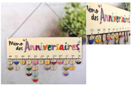 Calendrier anniversaires à personnaliser - Anniversaires – 10doigts.fr