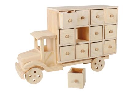 """Calendrier de l'avent en bois """"Camion"""" - Calendrier de l'avent – 10doigts.fr"""