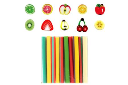 Canes fruits - 10 motifs - Décorations Fimo – 10doigts.fr