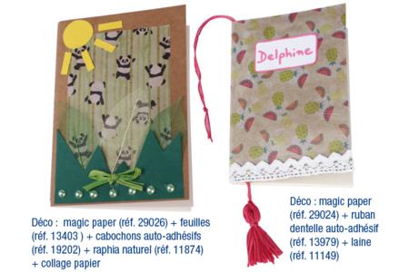 Carnet couverture Kraft - 60 pages - Albums photos, carnets – 10doigts.fr